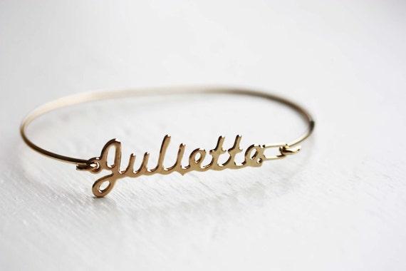 Vintage Name Bracelet - Juliette