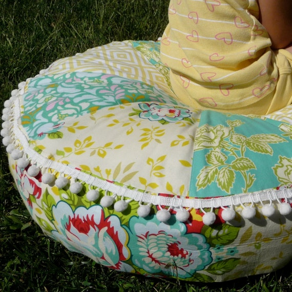 Pop Garden Pouf, Little Miss Muffet Tuffet, Floor Pillow, Photo Prop, Handmade in your choice of colors, Removable Cover