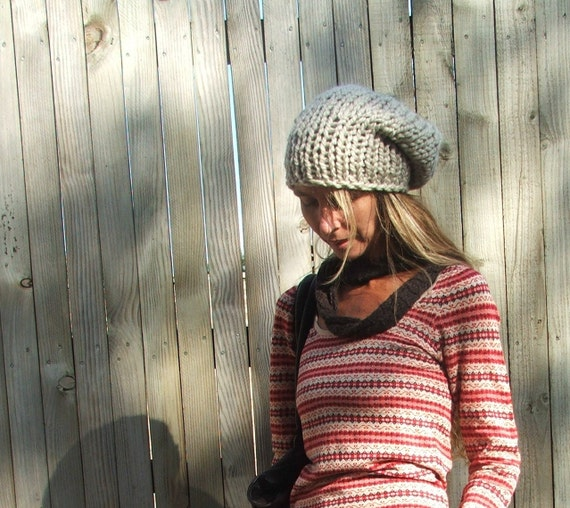Fawn /stone Chunky Hat . Ready to ship