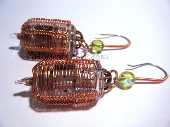 FREE SHIPPING Time Traveler Steampunk Earrings 005 Copper OOAK