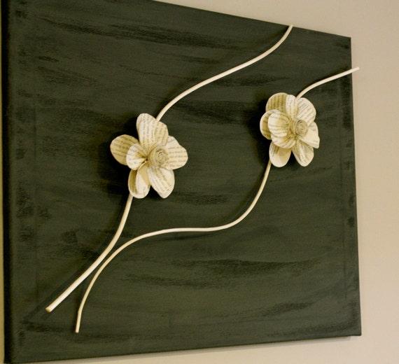 Холст с бумаги цветы