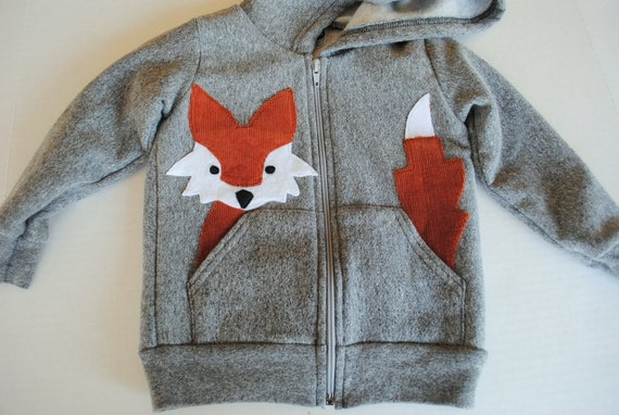Fox Hoodie for Kids in Navy Blue
