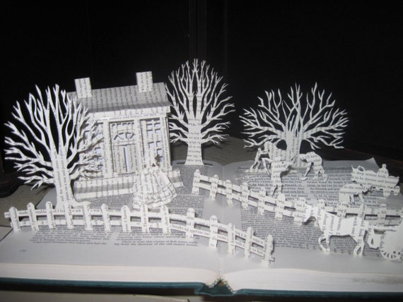 Book Sculpture Paper Sculpture Story comes to life