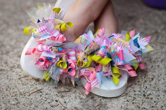Easter SALE SALE Learn how to make funky loopy flip flops, hair bows and headbands PDF hair bow instructions