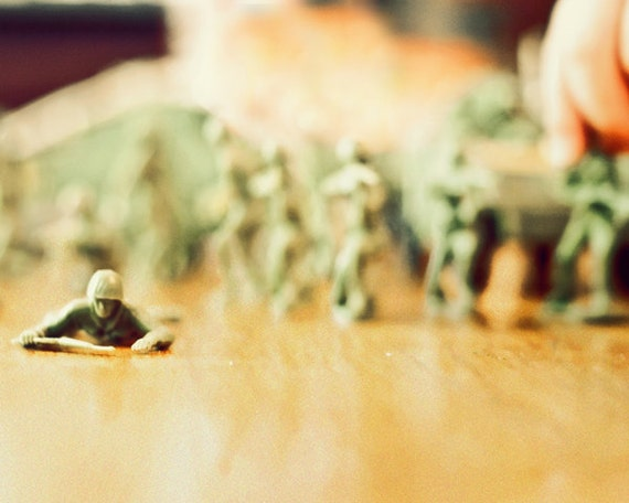 Toy Soldiers - 8x10 Fine Art Photography Print - masculine home decor photo for boy nursery or bedroom art