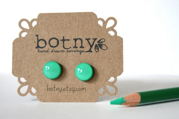 Neon Electric Green Brook Earrings