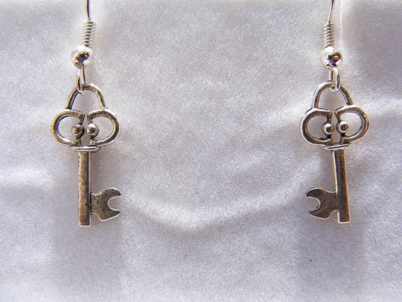 Earrings Silver Keys