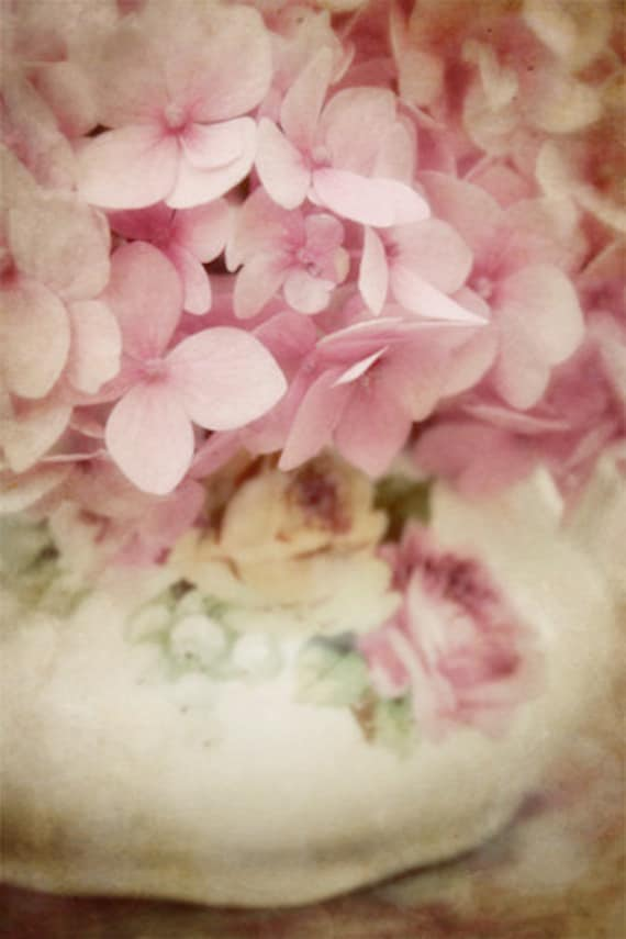 Pink Flower Photo - vintage, antique, pale, soft, dreamy, vase, breast cancer awareness, black friday, cyber monday