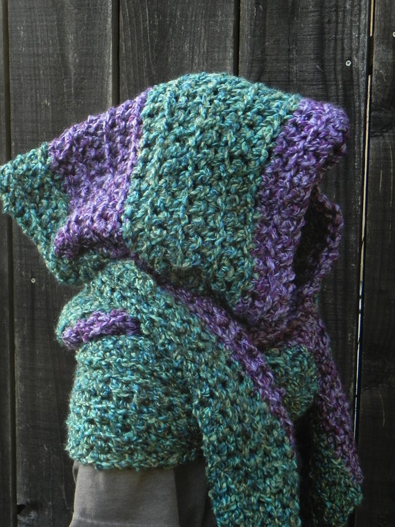 Hooded Scarf Pattern - Knitting Patterns and Crochet Patterns from