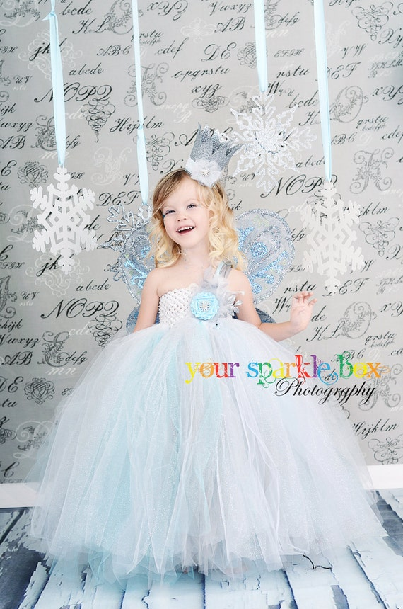 Snowflake princess tutu dress nb 12m 18m 2t 3t 4t