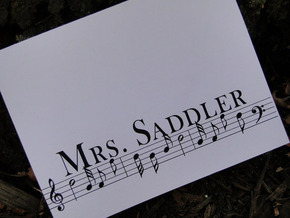Custom Musical Notes Cards (set of 10)