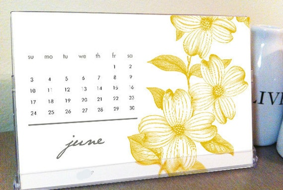 2012 desktop calendar gracehesterdesigns etsy seller