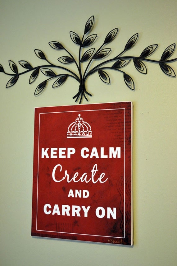 Keep Calm Canvas Print 16x20