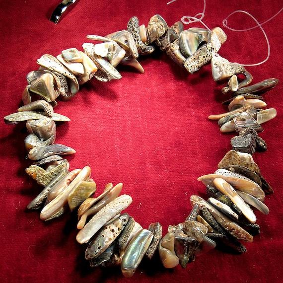"""18""""  Abalone choker hand cut beads"""