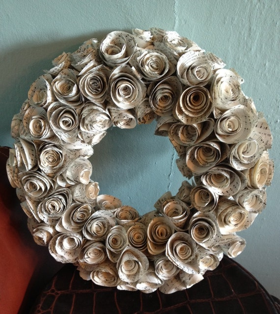 Small Hymnal Rosette Wreath