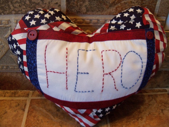 "VETERAN'S DAY/Patriotic ""Hero"" Pillow"