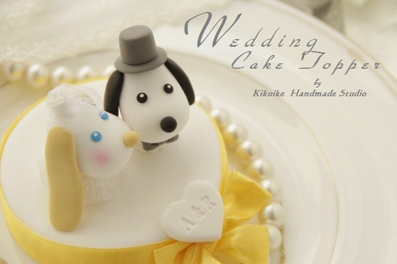 LOVE ANGELS Wedding Cake Topper-love dog