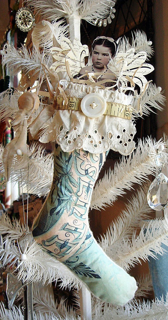 lovely Christmas Angel stocking ornament