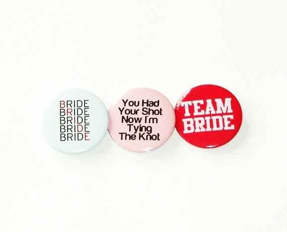 Pinback button badges - Bachelorette / Hens night party pack of 12