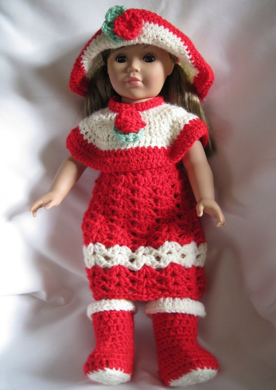 knit and crochet patterns for 18 inch dolls by Nannaspatterns
