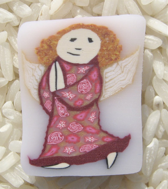 Polymer Clay Cane, Little Angel, Raw, Unbaked, Not Just For Christmas