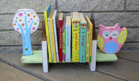 Brooke Owl - Table Top Book Shelf - Pottery Barn Kids Inspired - Eco Friendly