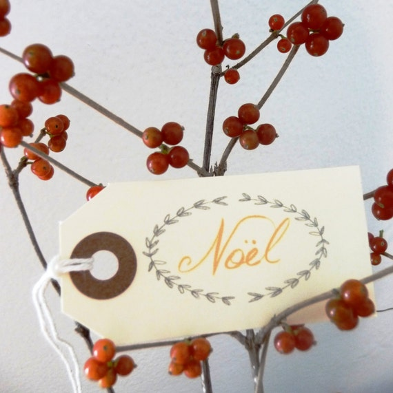 Noel Holiday Gift Tags
