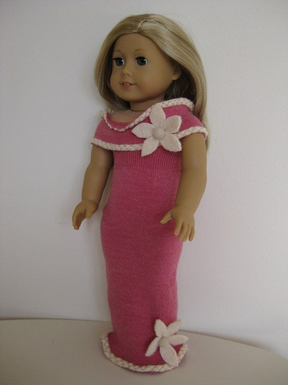 "Magenta dress with shawl and casual vest for American Girl/18"" doll 0009"
