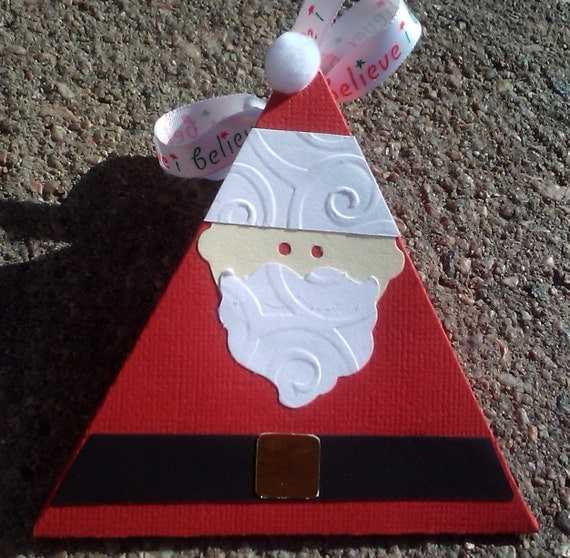 Santa Treat Boxes Set of 6 Medium Triangle Boxes