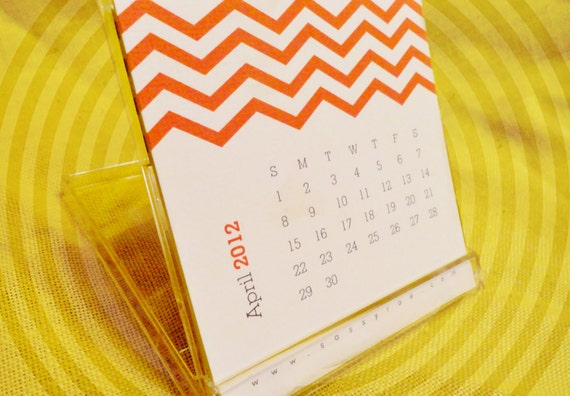 Chevron 2012 Desk Calendar