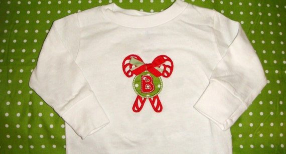 Candy Canes Ribbon Christmas Shirt