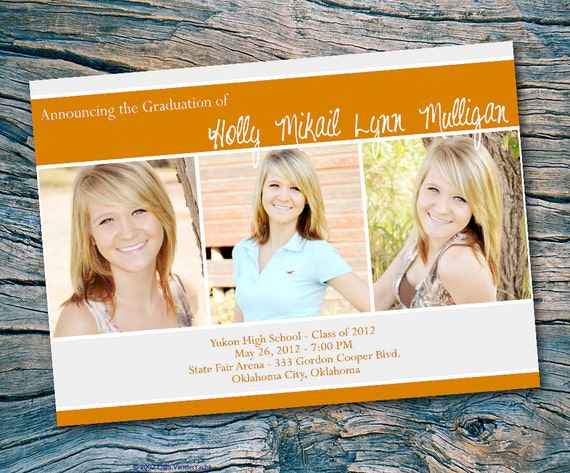 Senior 2012 Photo Graduation Announcement