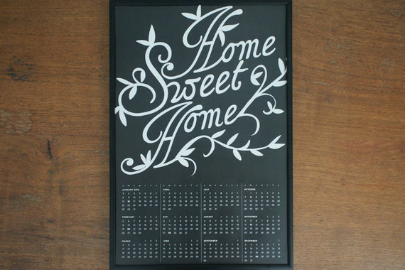 2012 Calendar, Home Sweet Home - Dark Gray