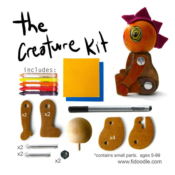 DIY kit -Creature - Red/Purple- craft kit
