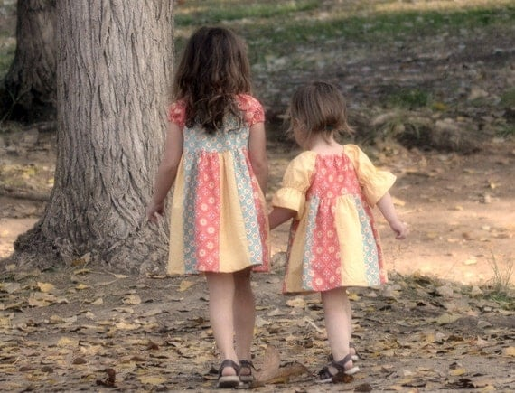 Girls Dress Pattern PDF sewing pattern...The Hailey Peasant Dress...baby, girls, easy, 9m-12