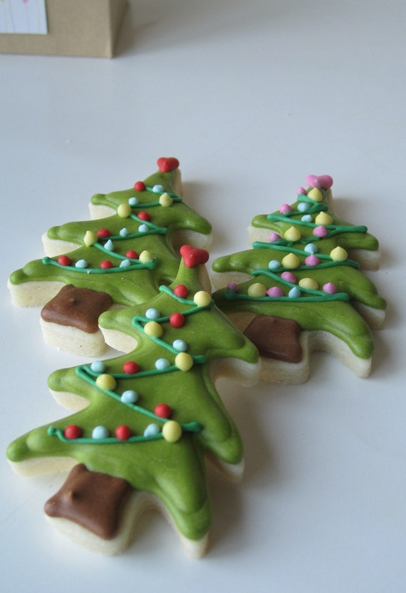 Oh CHRISTMAS TREE Sugar cookies - 1 dozen