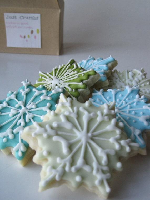 SNOWFLAKES Sugar cookies - 1 dozen