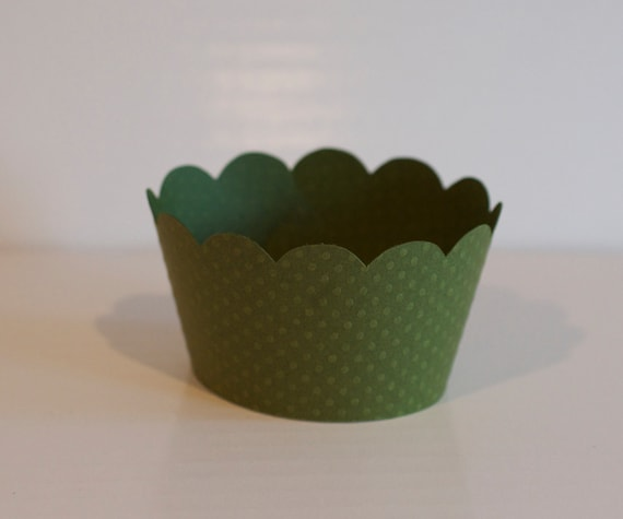 Forest Green Cupcake Wrappers