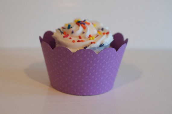 Purple Cupcake Wrappers