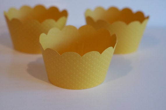 Sunflower Yellow Cupcake Wrappers