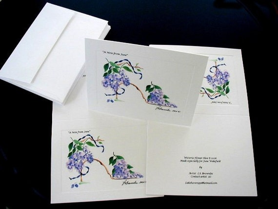 Personalized Note Cards - For Every Occasion.  Set of 10 -  Choose from over 200 Prints