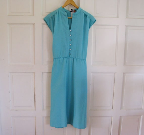 lovely vintage sunshine alley aqua dress size 12
