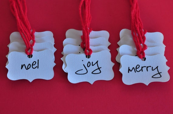 Merry Joy Noel Gift Tags