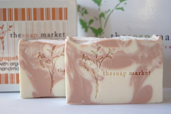 Grapefruit Handmade Soap, Organic Coconut Milk Soap, Cold Process Soap,Vegan