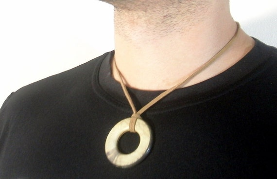 Men Necklace Upcycled Circle