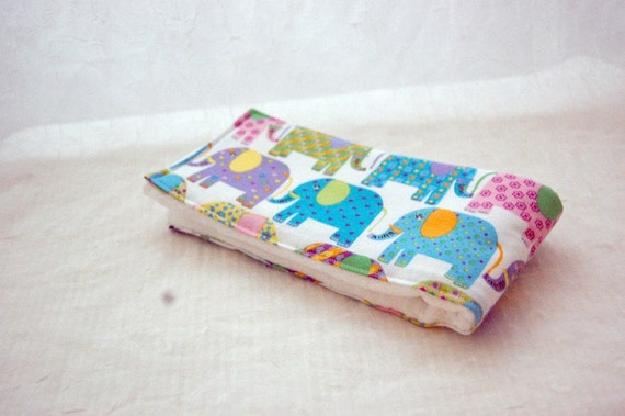 Burp Cloth - Elephants