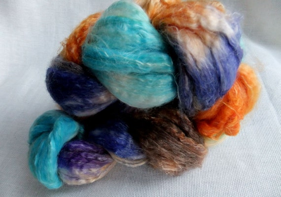 Wonderland - Faux Cashmere, Soysilk and Tencel Roving - 4.3 oz