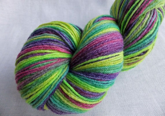 We're All Mad Here  - Handyed Sock Yarn - 370 yards