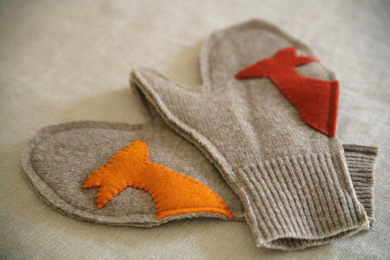 Woolen Deer Mitts - 4-6yrs
