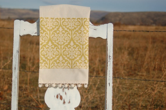 Damask Border Tea Towel